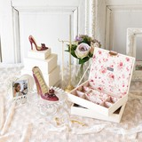 【Blossom】バラの小花柄がエレガントなジュエリーケース【ローズ】二代目