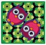 限定品!【新柄】 フェイラータオルハンカチ Owls Green