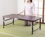 【直送可】【送料無料】木目調軽量折りたたみテーブル