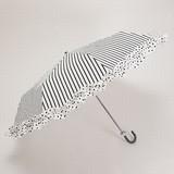 リスベスダール【折りたたみ傘】 BKストライプ(UM00061)