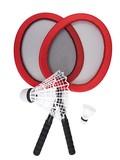 【ビッグサイズ】デカ バドミントン 赤【レジャー】【スポーツ】