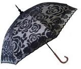 【晴雨兼用】1級遮光生地使用で遮光率99.99%以上!!新バラ柄レース二重張50cm手開