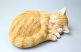 【10月21日から31日まで10%分引きセール!】【キャット】眠り 2種 ネコ雑貨