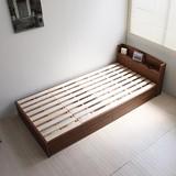 【完売・次回未定】すのこベッド シングル ベッドフレーム 木製ベット ローベット引出し2杯 通気性抜群