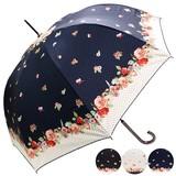 ★2016【春夏新作】ジャンプ傘★雨晴兼用 ドットフラワー柄ジャンプ傘♪