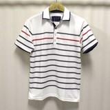 【2016春夏】カノコ バスクボーダープリント 2枚襟 ポロシャツ【割引対象外