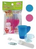 【旅行やキャンプ・防災用品に 歯ブラシセットです】コップ付歯磨きセット