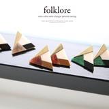 [folklore]人気商品の新作登場♪レトロカラートライアングルピアス◆422962