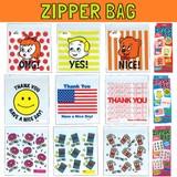 プリントジッパーバッグ * ビニール製保存袋です!小物の小分けや保存に☆