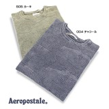 【即納】【Aeropostale】 ストーンウォッシュ地柄迷彩クルーネック