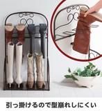 ◆4足ブーツ収納ラックアンティーク調