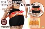 【特価商品】◆クロス生ゴム骨盤ベルト(u)