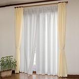 ◆三層編み断熱レースカーテン (2枚組)100×218cm