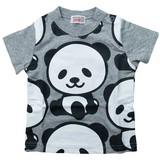 【16夏新作】【GARACH】パンダ総柄半袖Tシャツ