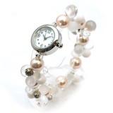 【春夏新作】パールビーズのブレスレットウォッチ レディース腕時計 アクセサリー