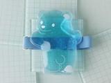 ひえくまランチバンド付保冷剤 透明×ブルー
