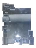 【デコラティブミラー】壁掛け鏡 ウォールミラー スクエア(直送可能)