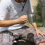 ステンレスカップ【DOUBLE WALL CAFE AU LAIT CUP】ダブルウォールカフェオレカップ