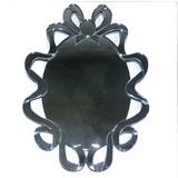 【デコラティブミラー】壁掛け鏡 ウォールミラー リボン(直送可能)