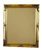 【セール商品】【直送可】アンティーク:トリノウオールミラー  角型 ジャパンゴールド色