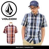 【VOLCOM】 半袖シャツ /Compton/ボルコム 先染めチェックシャツ 半袖 シャツ