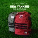 【当社生産 国内ライセンス】ヤンキース シューズBOX ナイロンデイパック バッグ  アウトドア 吸水速乾