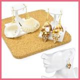 光石&パールと貝殻のピアス