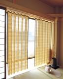 【直送可】【送料無料】天然竹すだれカーテン