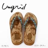 UNGRID【アングリッド】 ビーズモコモコサンダル