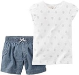 【SALE】【2016年春夏】carter's カーターズ Tシャツ&ショートパンツセット