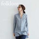 [folklore]★追加生産なし★コットンスラブロングシャツスキッパー◆422816