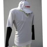 5%OFF【Web展示会】(8月納品)HEAD メンズお買い得ストレッチアンダー付き半袖ジップシャツ2点セット