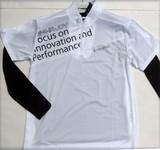 HEAD メンズお買い得ストレッチアンダー付き半袖ジップシャツ2点セット