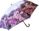 【晴雨兼用】【レディース傘】遮光率99%アンティークローズ58cmグラスファイバー手開