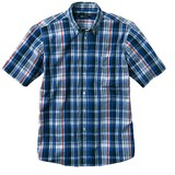 【メンズ】先染めカジュアルシャツ(半袖) 【大きいサイズも展開】