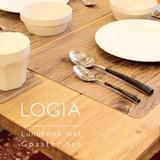 リアルな木目のランチョンマットとコースター【LOGIA】ロギア