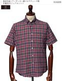 清涼生地シアーサッカー綿マルチチェック柄半袖BDカジュアルシャツ