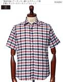 清涼生地シアーサッカー綿マルチチェック柄半袖レギュラーカラーカジュアルシャツ