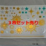 【3枚セット売り】タトゥーシールtzh-26