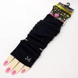 【UV対策】UVカットアームカバー リボン刺繍<ブラック> (商品コード:609-526)