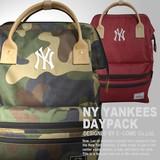 【当社生産 国内ライセンス】ヤンキース コーデュラ素材 がま口 リュック バッグ 鞄 傘 吸水速乾