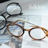 [folklore]【UV】パッド跡が気にならない。ラウンド伊達メガネ/眼鏡◆423347