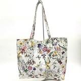 花柄リバーシブルトートバッグ