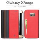 【 Galaxy S7 edge ケース】手帳型 Buffalo Diary(バッファローダイアリー)