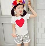 ハートがかわいいセットアップ 半袖Tシャツ ショートパンツ 女の子 ガールズ 上下セット セットアップ
