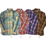 【Web展】(9月納品)雑誌掲載予定商品【HOUSTON】ビエラ ワークシャツ(Viyella Work Shirt)