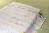 今治産ジャカード織タオルケット3色組ブルー・ピンク・グリーン<日本製>【直送可】【送料無料】