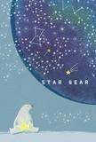 ハガキ箋 白熊と夜空