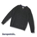 【即納】【2016AW新作】【Aeropostale】ラム天竺ラグランVネック<展示会実績>