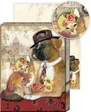 PUNCH STUDIO  ポケットノートパッド 75シート 犬 猫
